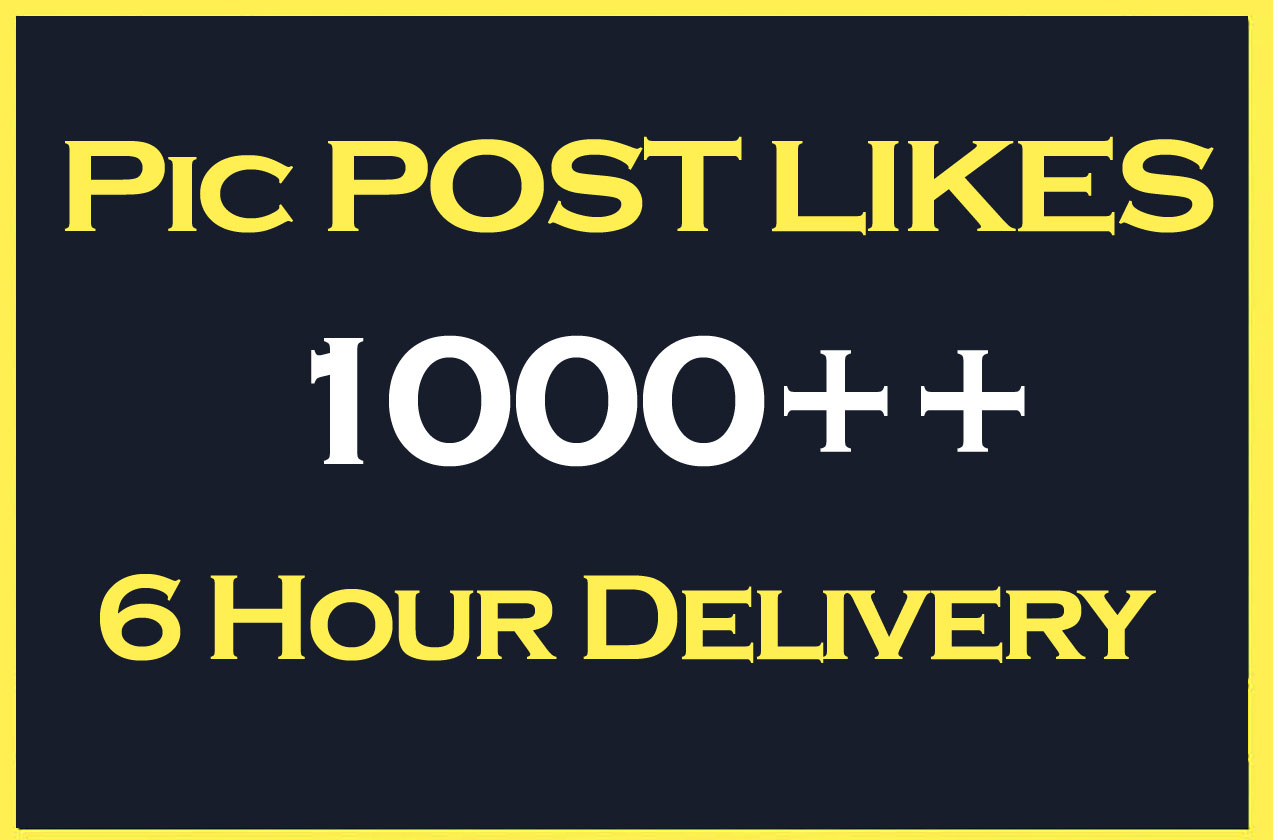 Instant 1000-1200 High Quality Social Post Pictures Promotion and Marketing