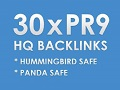 I will do 30 High Pr9 Backlinks