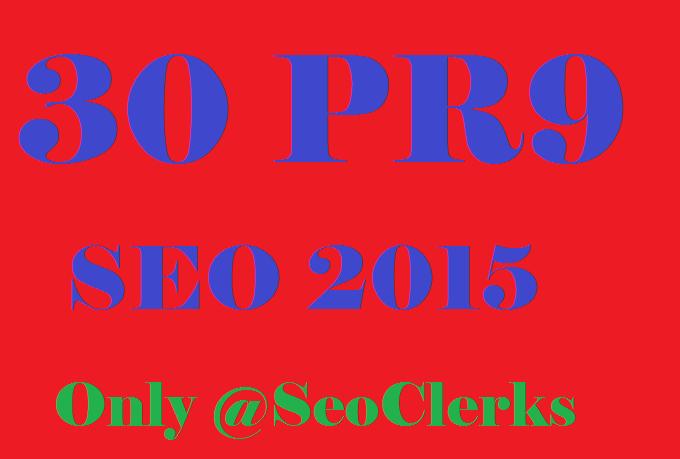 Create 30 PR9 SEO Safe High Pr Backlinks