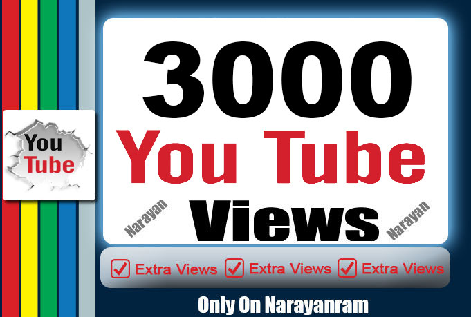 3000 Views High Quality Monetizable Views Fully safe Life Time Guarantee