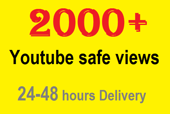 2000+ youtube high retention spitable views in your video only