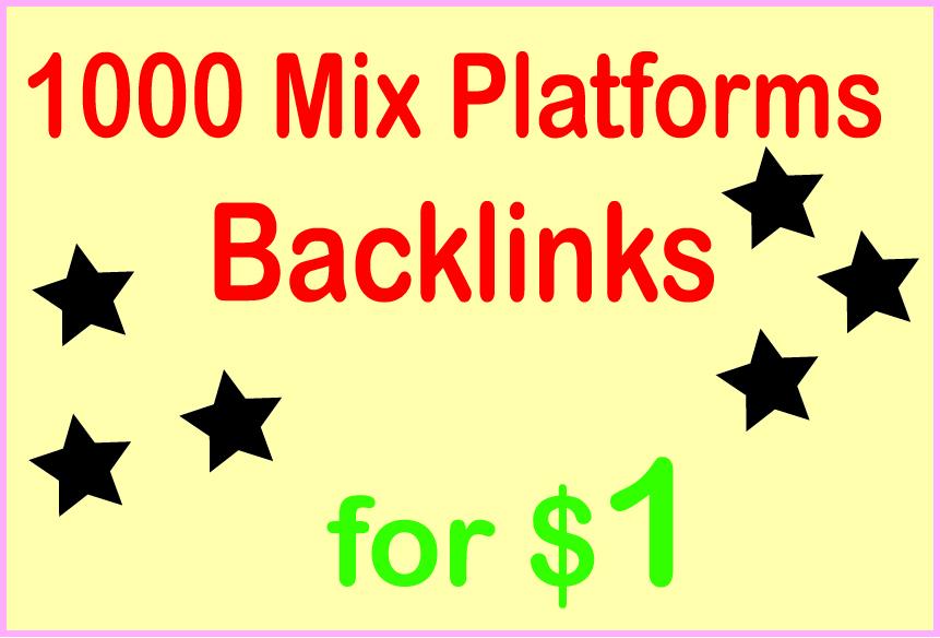 Give You HQ PR 1000 Mix Platforms Backlinks