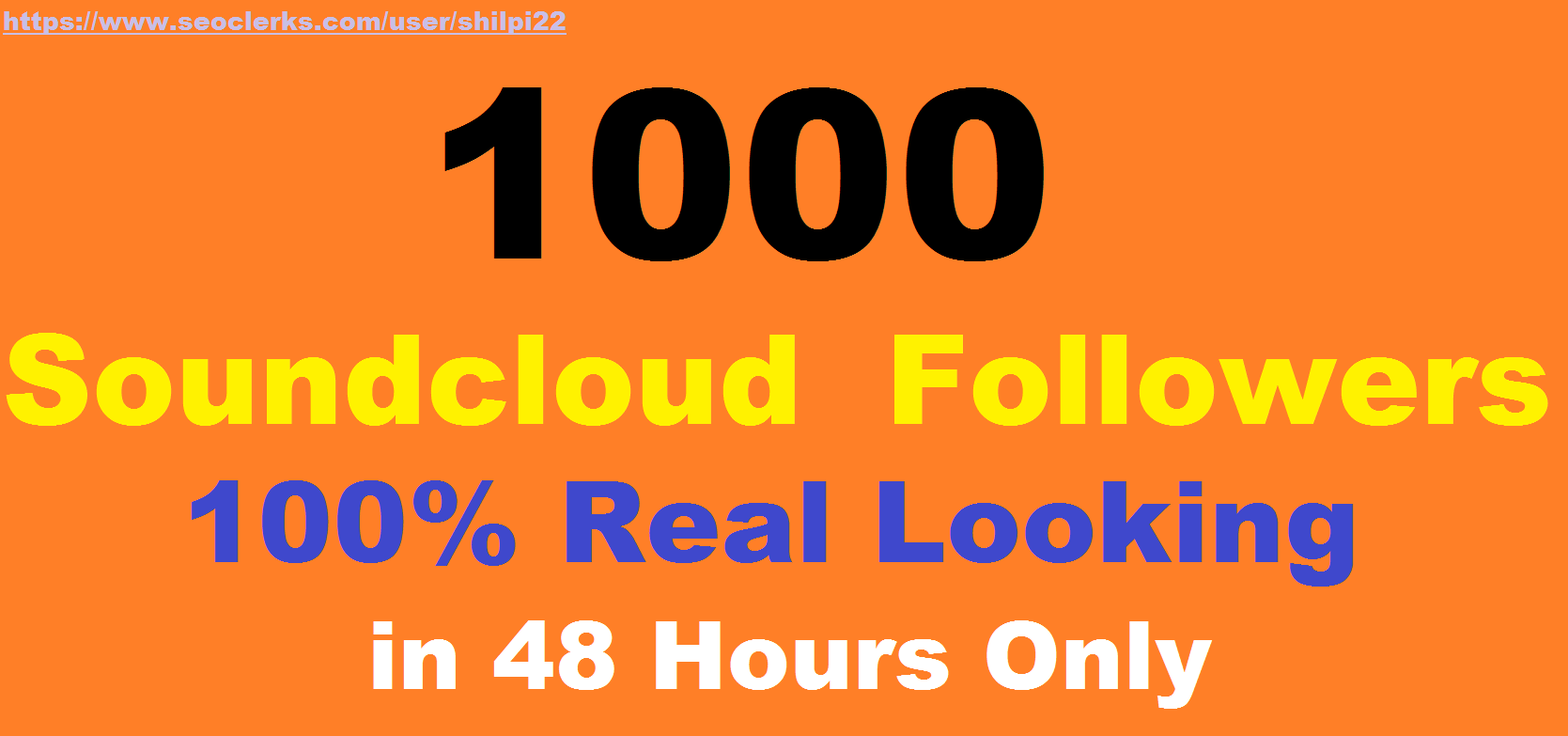 1000+ REAL Soundcloud Followers or Likes very fast onl