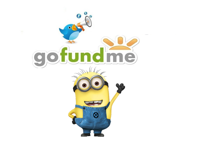 promote GoFundMe crowdfunding campaign to 100K Twitter Followers