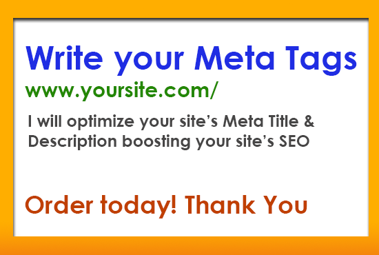 Write Search Engine Optimized Meta Tags for your Site