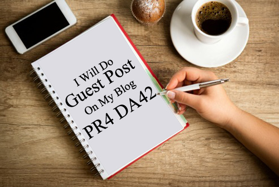 I will do Guest Post On My PR4, DA42 Blog for 5