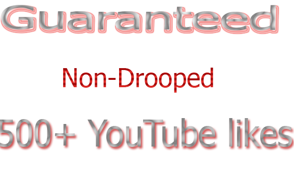Add 500  non drop YouTube like of your video