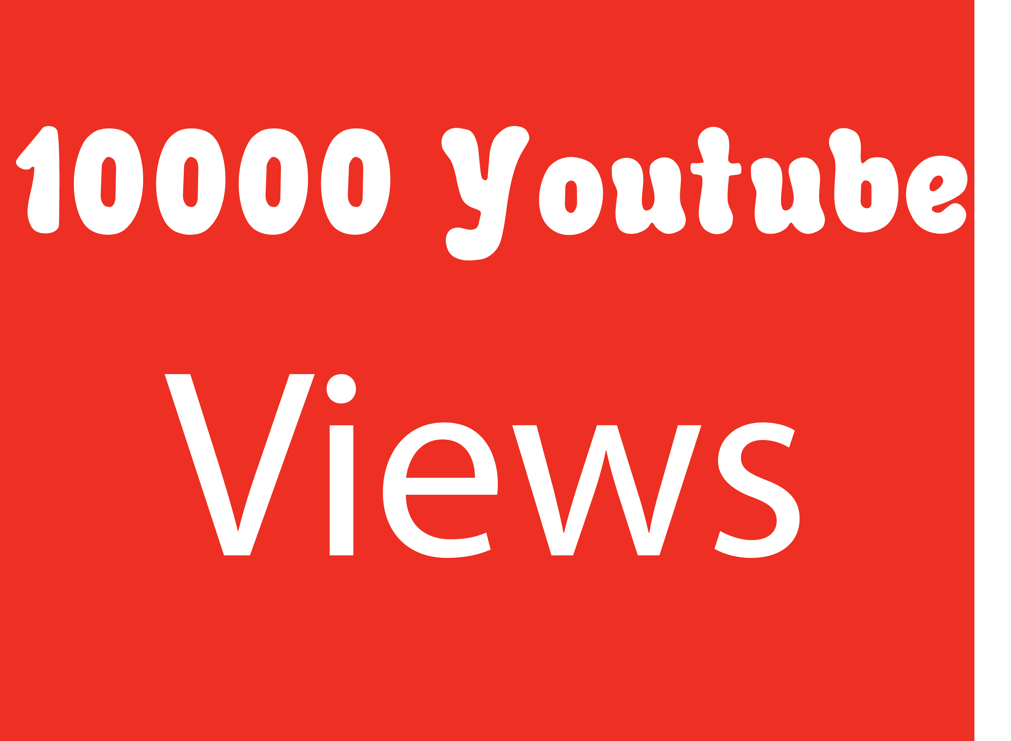 Give You 10000+ NON Drop + Splitable Youtube Views