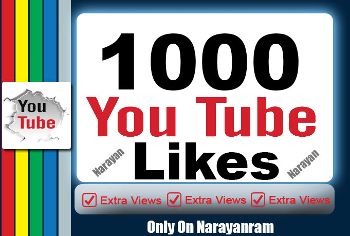 1000 YT Likes with Super Fast speed