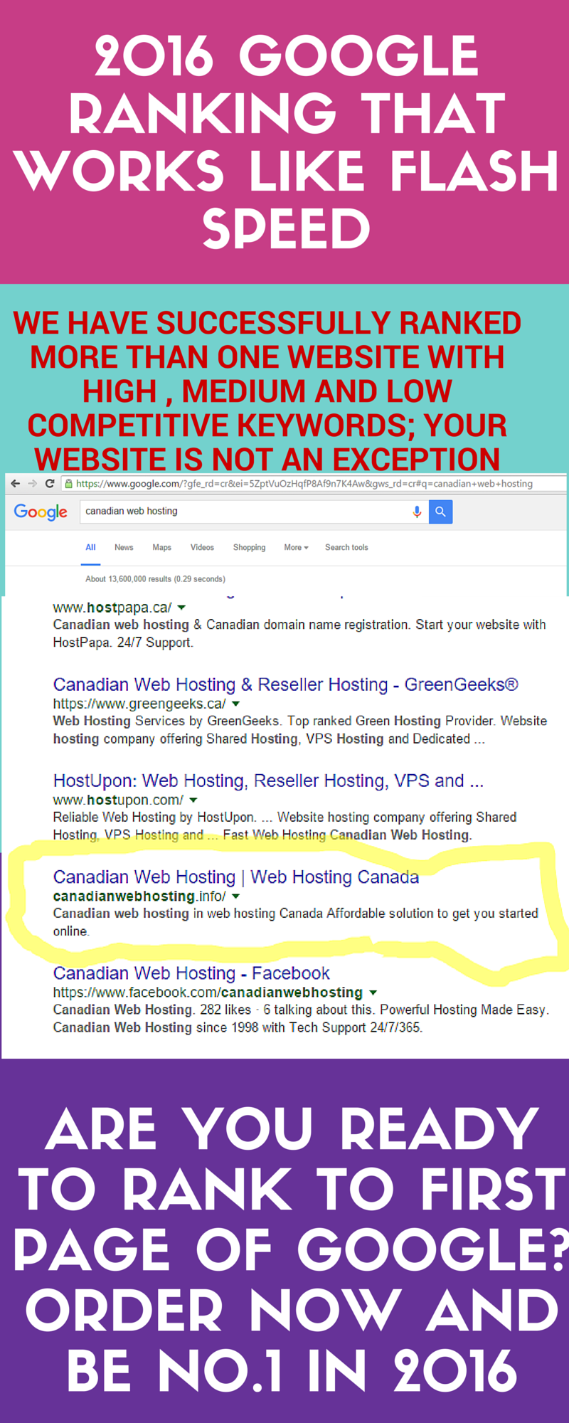 GOOGLE FIRST PAGE GUARANTEED- WHITE HAT