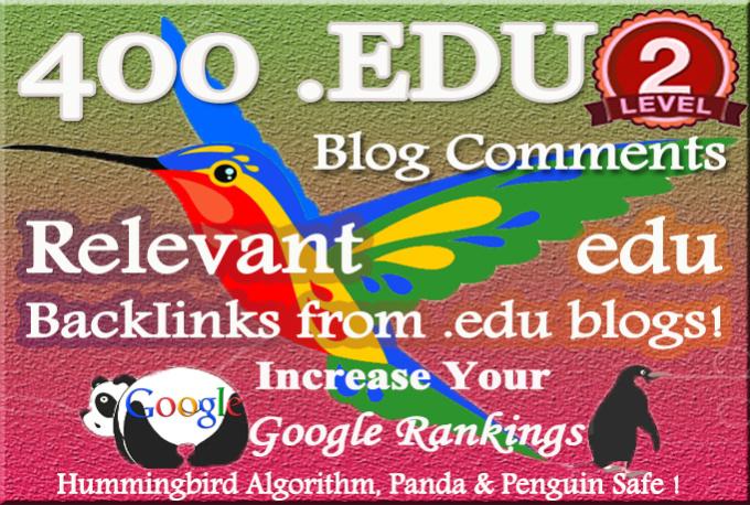 400 relevant edu blog Comment Backlinks to improve yo...