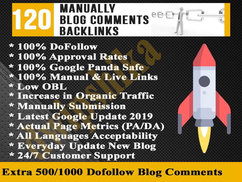 give you 120 High PA DA Unique Domain DoFollow Backlinks