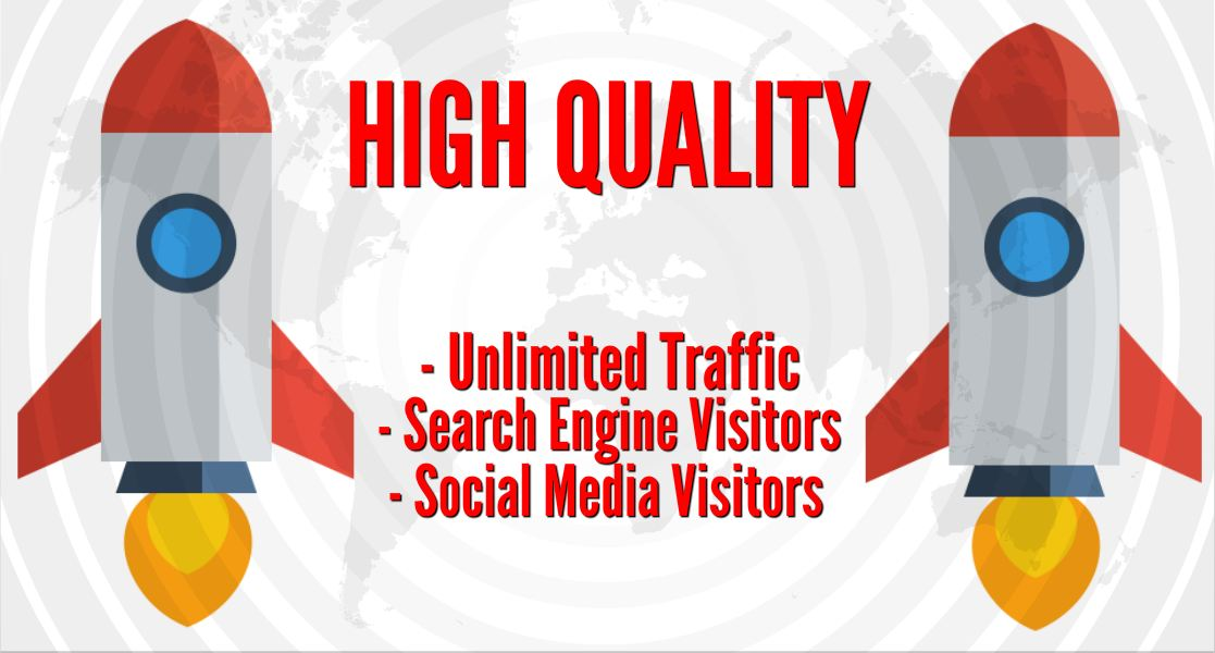 PREMIUM SEO TRAFFIC with Search Engine and Social Media Visitors