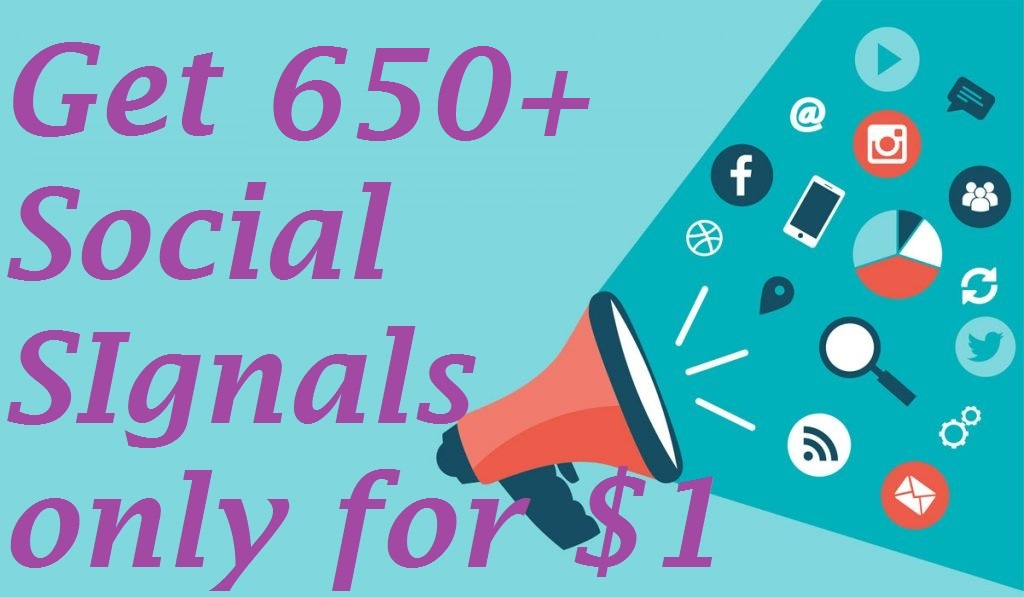 650+ High Quality Social Signals Backlink from 4 BEST...
