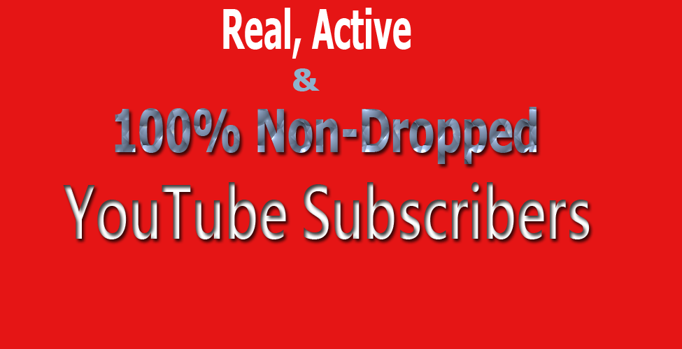 Add Real, Active & non-dropped 100+ YouTube Subscribers