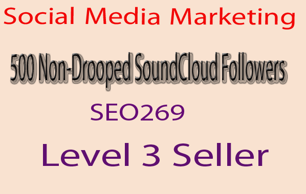 Add Soundcloud 500 Real and non drop soundcloud followers or likes only