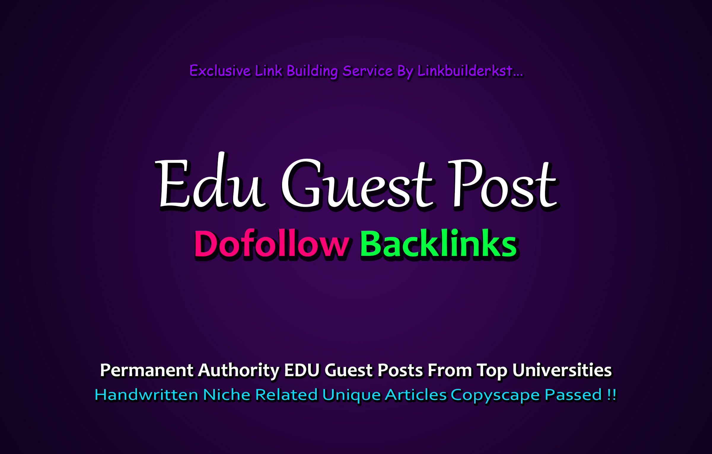 Write And Publish 3X EDU Guest Posts From Top 3 Universities