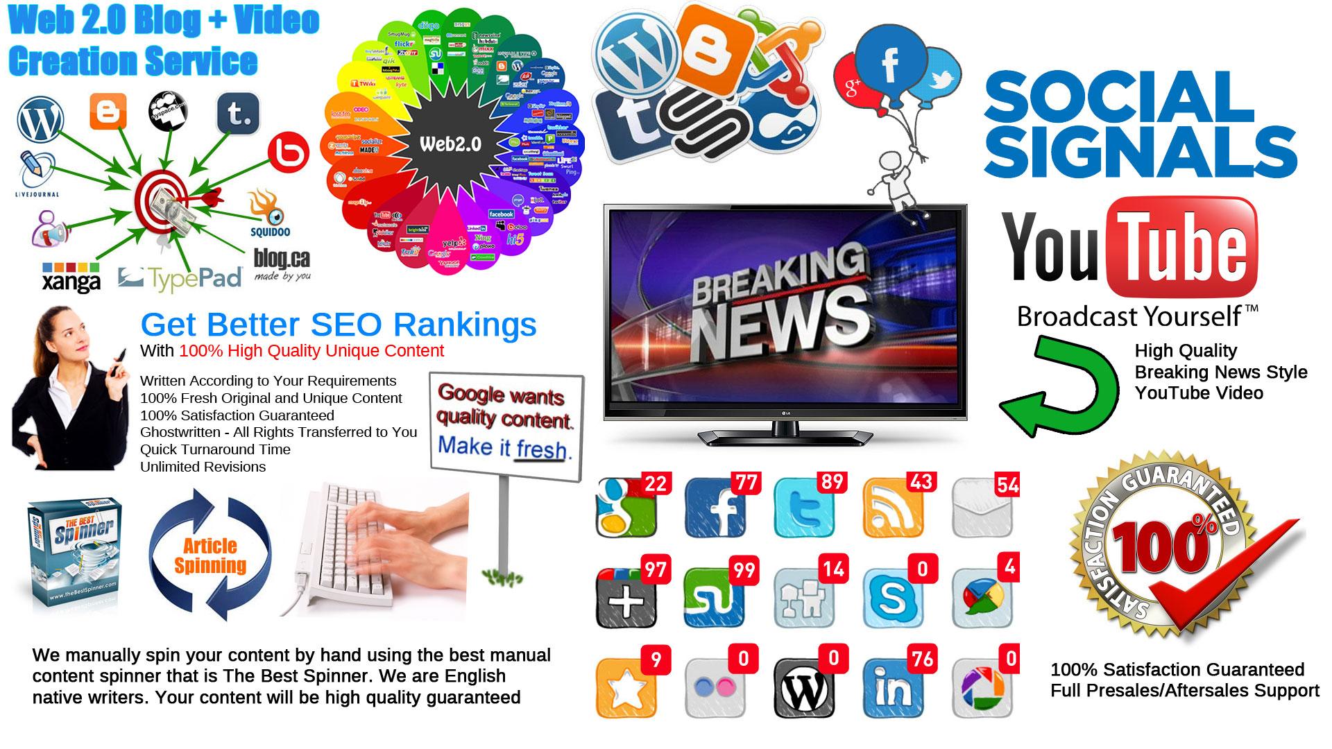 Top 25 Web 2.0 Blogs Network Creation Service High Qu...