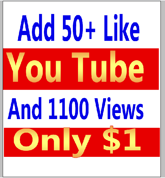 I will give you real 1100 youtube views and 50+ youtube video likes in your video