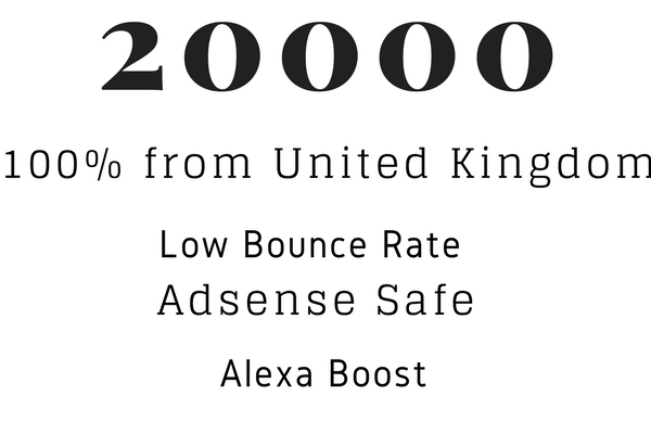 Send 20000 Human Traffic from United Kingdom