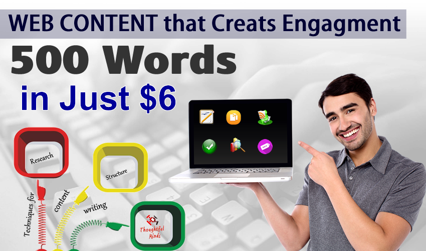 Write Engaging 500 Words Web Content