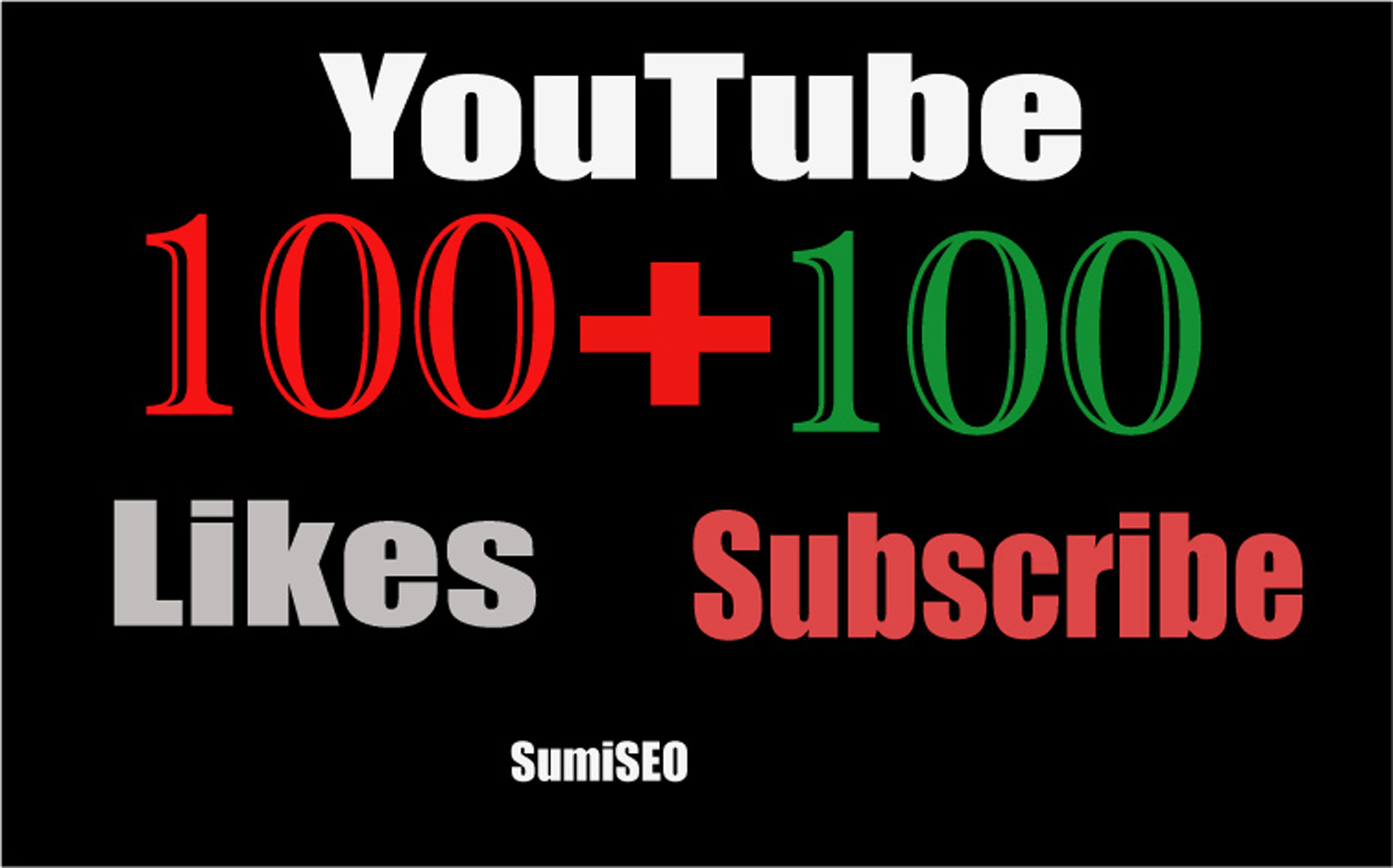 Manualy do 105 YouTube Likes +105 Subscriber