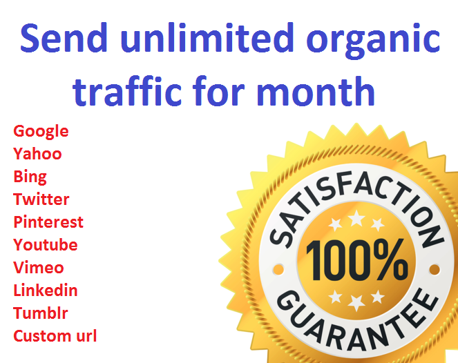 send unlimited organic web traffic for month
