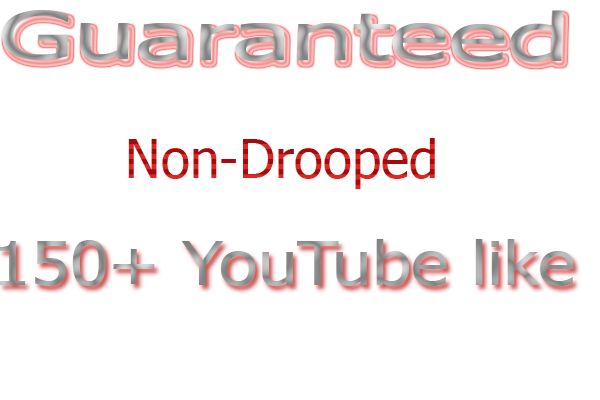 Provide you Non drop 150+ YouTube likes  4-6 hours time