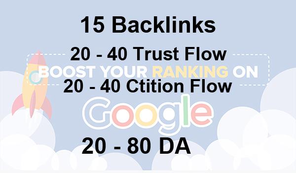 I will provide 50 high Trust flow and citation flow Dofollow backlinks on high DA