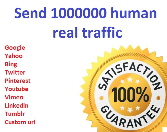 1,000,000+ Keyword Targeted GOOGLE traffic Real human...
