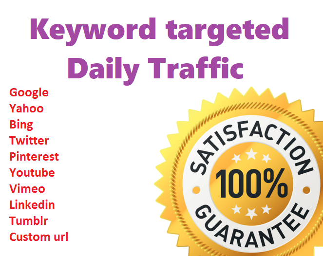 Send daily 300+ keyword target Traffic from USA/UK /CANADA for 5 days. Limited Time Offer Grab It Now