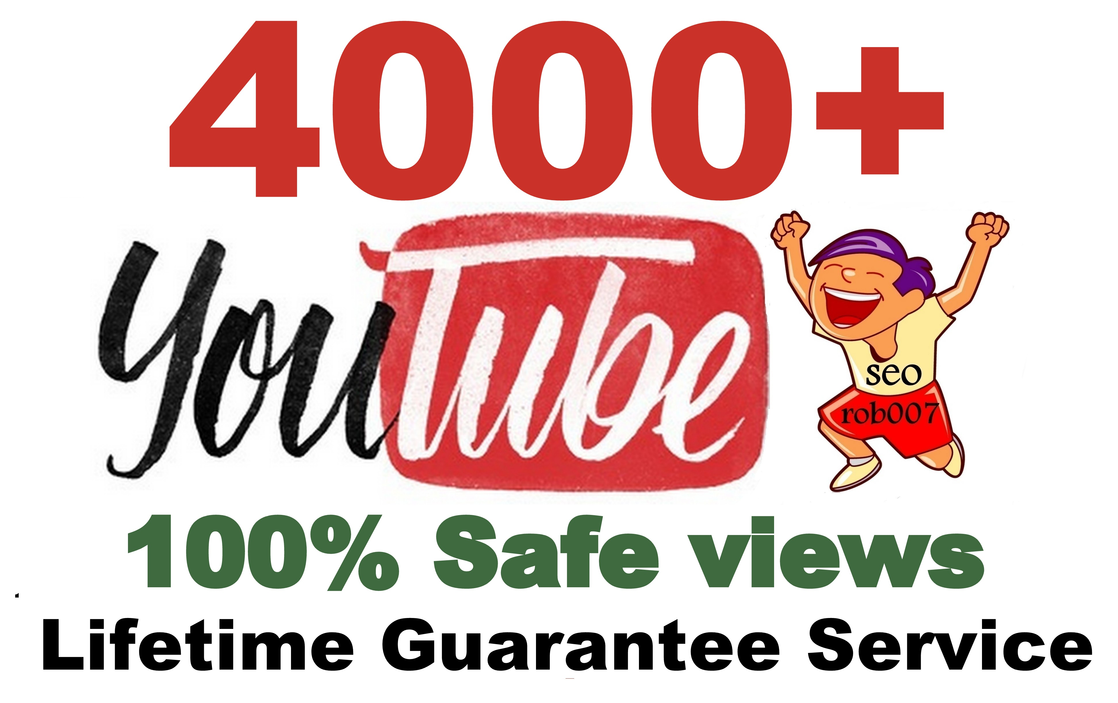 4000+ YouTube Views in 24-48 Hours Good Retention A+ BrandService