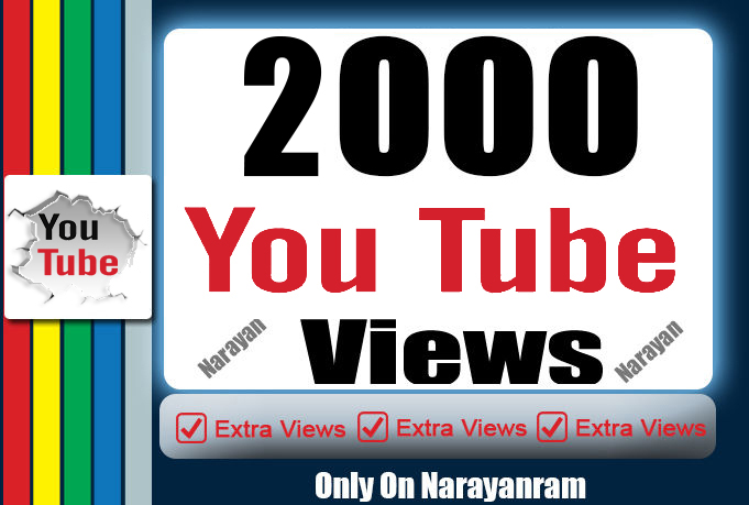 2000  High Quality YouTube Views Fully safe Life Time Guarantee