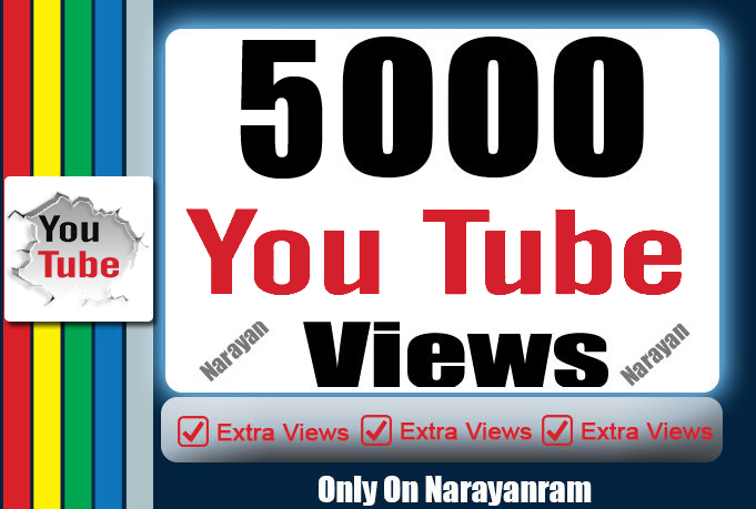 5000+ High Quality Views Fully safe Instant