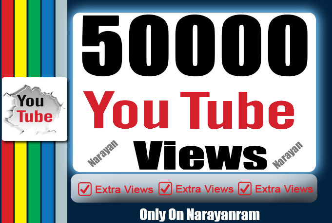 50000+ (50k) Quality YouTube Views Fully Safe