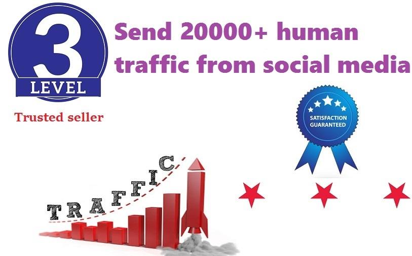 send 20,000+ human traffic from google, yahoo etc
