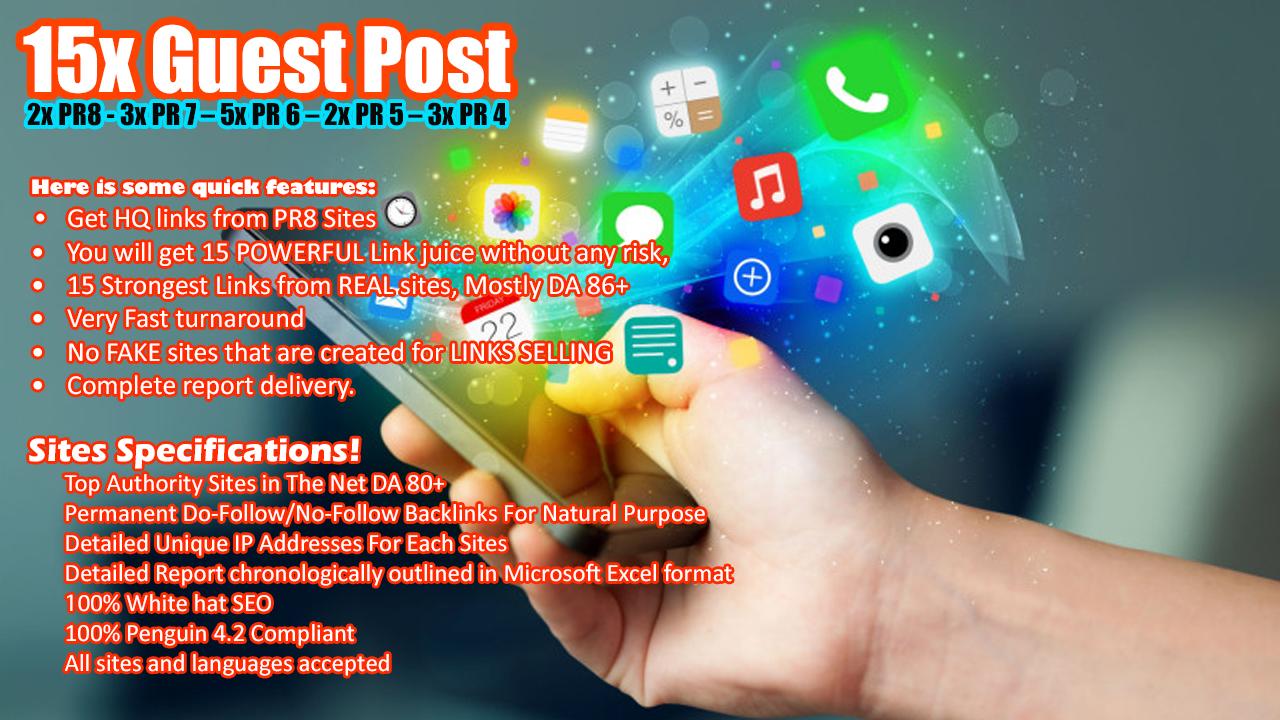 Publish a Guest Post on 2x DA60+ | 3x DA70+ | 4x DA 80+ White Hat SEO Backlinks