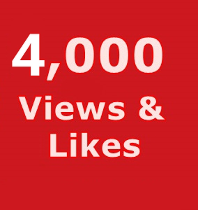 4,000 Youtube Views +100 Likes Your Videos