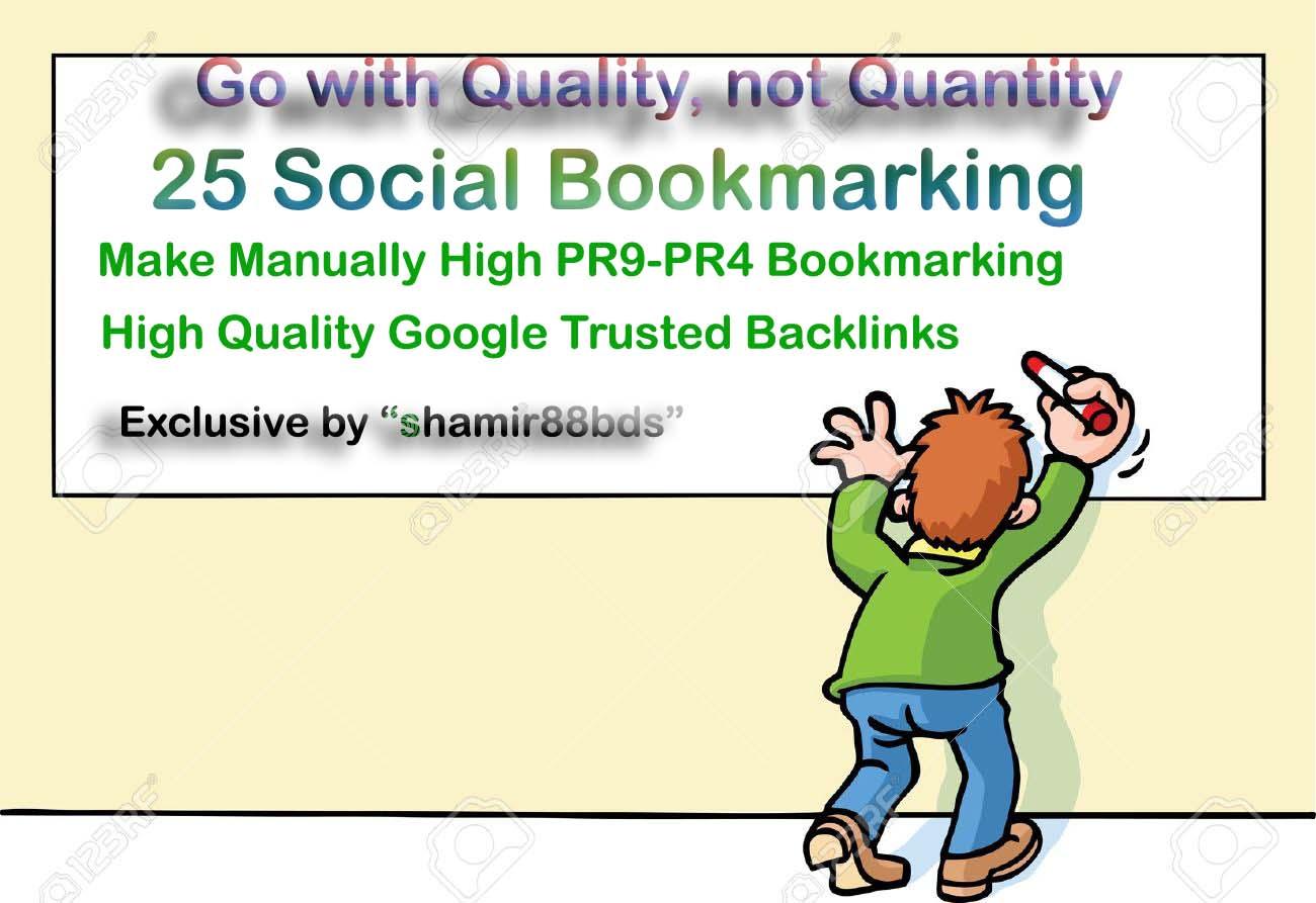Manual 30 High Authority Social Bookmarking from HIGH DA50-DA100