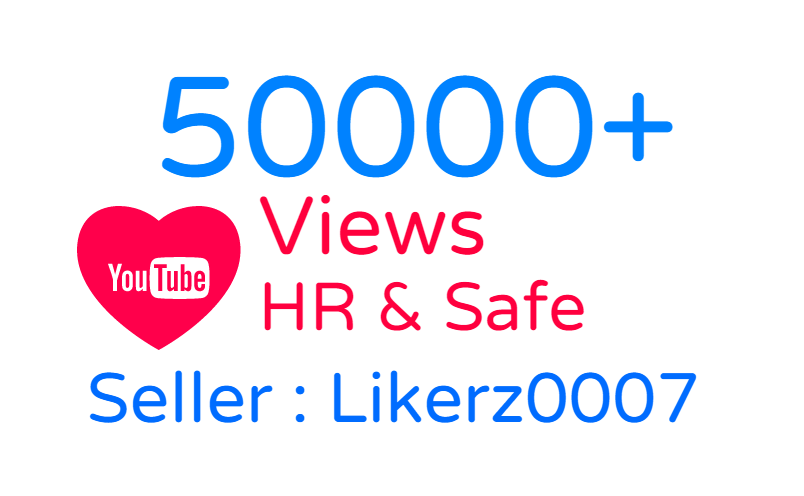 Get promotion of 50000 to your YouTube video with HR Views and Safe