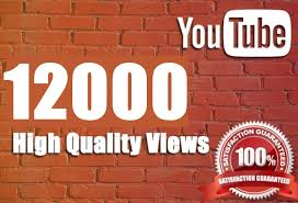 Get promotion of 12000 to your YouTube video with HR Views and Safe
