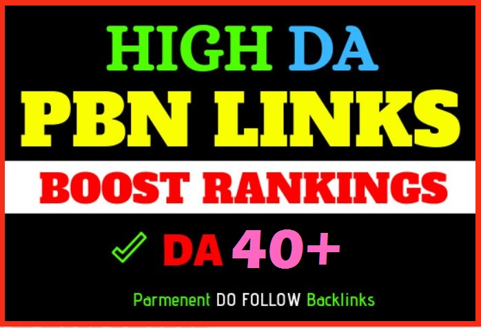 10 Manual DA40+ PA70+ CF40+ TF25+ DR35+ UR40+ Dofollow PBN Backlinks