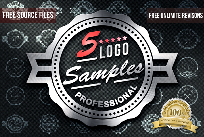 I will do a 5 PROFESSIONAL logos with FREE jpg,  psd,  ai,  and unlimited revisions