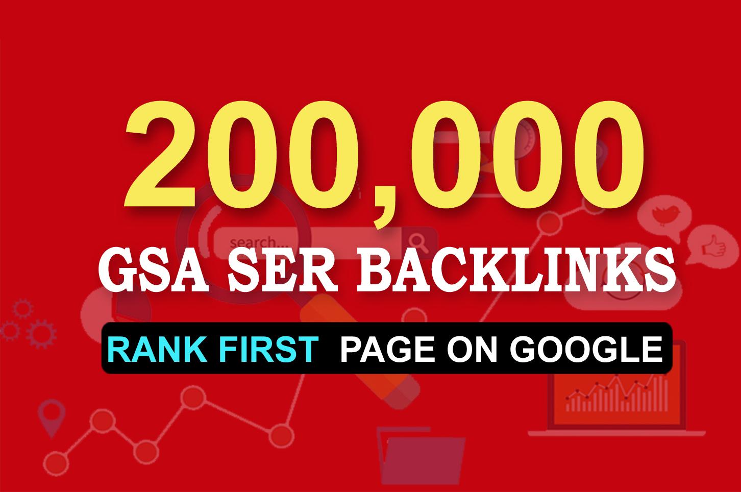 Get 1st page on Google by 200,000 GSA Ser Backlinks
