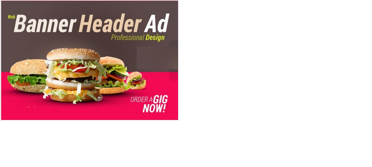 design a Professional web banner, header, ad, cover