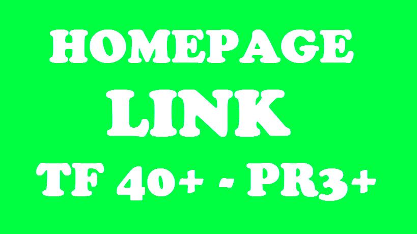 HOMEPAGE BACKLINK - TRUST FLOW 40+ & PR3+