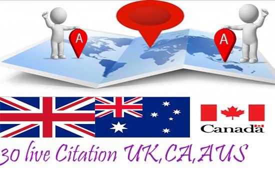 I will create 30 local Citation for local SEO