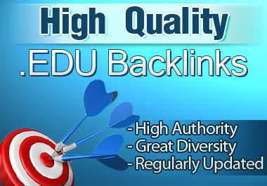 Manually I will create 50 PR5/9 Contextual Edu Backlinks