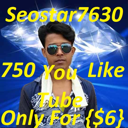 Guaranteed 750+youtube video like OR 100 youtube subscriber OR 10+ youtube subscribers in your YouTube channel or 5 castom comment12+24 only