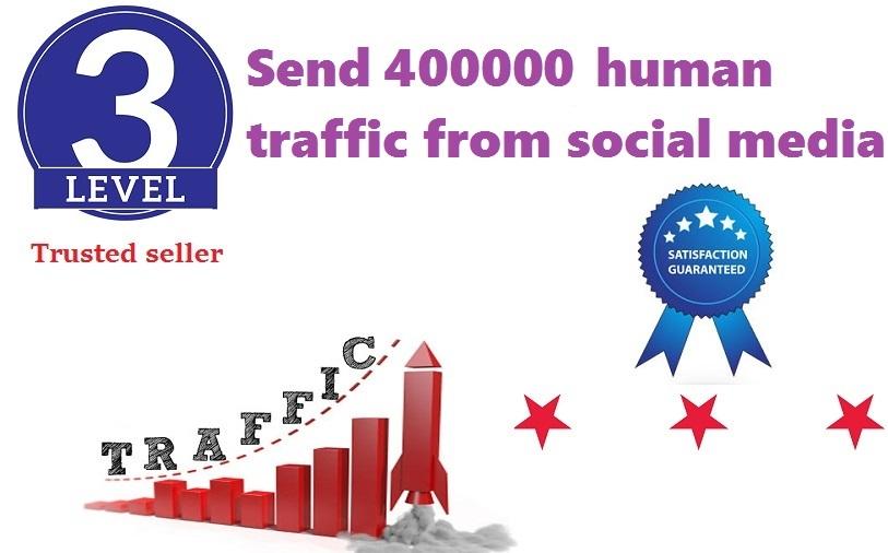Send 400000+ Human Traffic by Google Yahoo etc